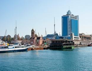 Odessa Ukraine sea port view